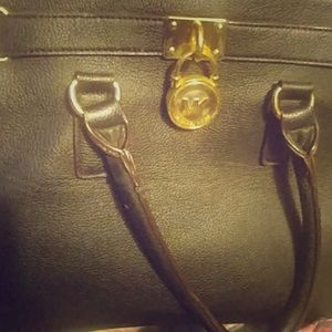 Large black MK bag with shoulder strap